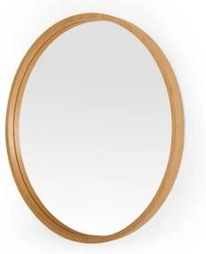 Wilson grote ronde wandspiegel, 80 cm, eiken