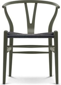 Carl Hansen & Son CH24 Wishbone stoel Colours Black Olive Green