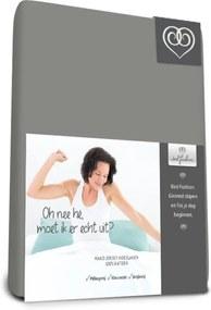 Mako Jersey hoeslakens de luxe 140 x 200 cm grijs