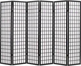 Kamerscherm inklapbaar Japanse stijl 240x170 cm zwart
