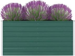 Plantenbak verhoogd 160x80x77 cm gegalvaniseerd staal groen
