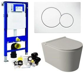 Geberit UP320 Toiletset Set53 Wandcloset Salenzi Civita Mat Grijs Sigma Drukplaat