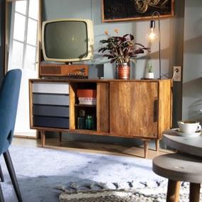 Design Dressoir Mangohout - 147x44x75cm.