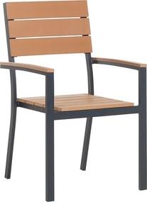 Tuinstoel bruin - eetstoel - eetkamerstoel - balkonstoel - terrasstoel - aluminium - COMO