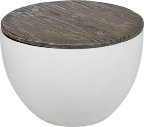 Bowl salontafel | 80 x 40 | Grey Wash