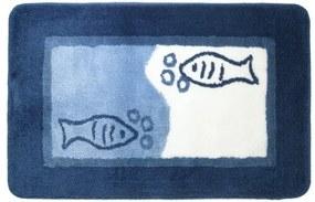 Badmat Antislip Sealskin Marina Acryl Blauw 55x85cm