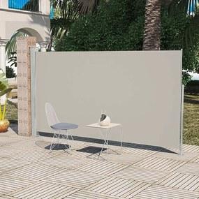 Wind-/zonnescherm uittrekbaar 160x300 cm crème