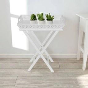 Bijzettafeltje met blad wit