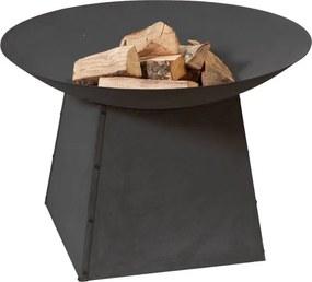2L Home and Garden Vuurschaal 90 cm zwart op onderstel - kleur: zwart