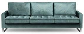 Rivièra Maison - West Houston Sofa 3,5 Seater, velvet, mineral blue - Kleur: blauw