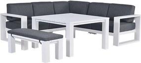 Garden Impressions Plaza lounge dining set 5-delig wit