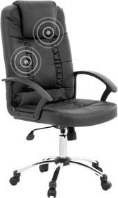 Bureaustoel met massagefunctie zwart RELAX