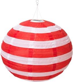 SOLVINDEN Led-plafondlamp op zonnecellen buiten globe/streep rood