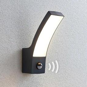 LED buitenwandlamp Ilvita, antraciet, met sensor - lampen-24