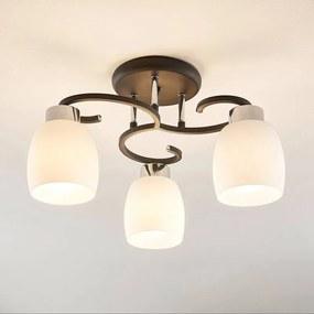 Daliah plafondlamp met drie glazen kappen - lampen-24