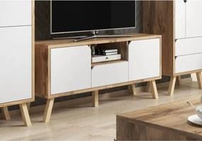 TV Meubel Scandinavisch - Gold Craf Eiken & Mat Wit