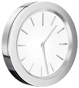 Smedbo Time klok Rond 6cm Wit chroom YX380
