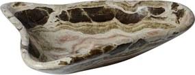 Beige travertin waskom | Bijzondere vorm | 47 x 56 x 15 cm