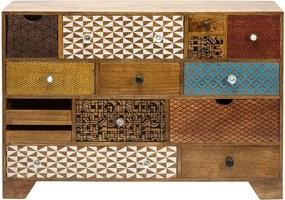 Kare Design Soleil Houten Design Dressoir Soleil 14 - 115x36x80cm.