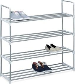 Schoenenrek metaal - 4 verdiepingen - 16 paar schoenen