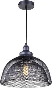 Gaaslamp Industrieel Design Hanglamp, E27 Fitting, ⌀35x30cm, Zwart