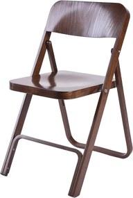 Fameg Flip - Houten klapstoel- Folding chair - Design - Retro - Cafe - Bruin