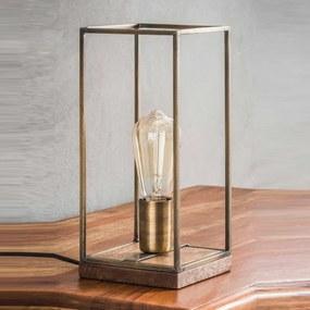 Rechthoekige Stalen Tafellamp