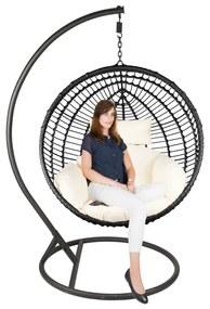 Hangstoel cocoon XL - zwart