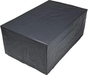 Beschermhoes voor tuinset vierkant grijs PE H90x325x205cm