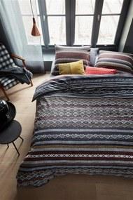 Beddinghouse   Dekbedovertrekset Pendleton lits-jumeaux: breedte 240 cm x lengte 200/220 cm + bruin dekbedovertrekken geborstelde   NADUVI outlet