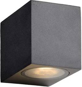 Lucide LED wandspot buiten ZORA IP44 - zwart - 9x6,5x7,9 cm - Leen Bakker