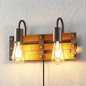 Jamina houten wandlamp, 2-lamps - lampen-24
