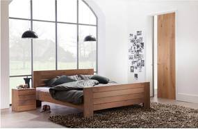 Goossens Bedframe Aberson, 160 x 210 cm met hoog voetbord