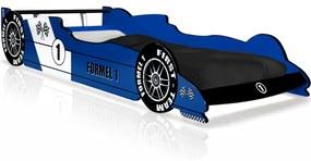 F1-racebed blauw