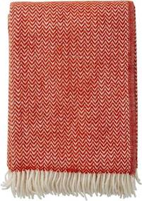 Plaid lamswol Chevron: rood, Ruby Red