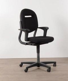 Bureaustoel 220, zwart, (opnieuw gestoffeerd) 2D armleggers