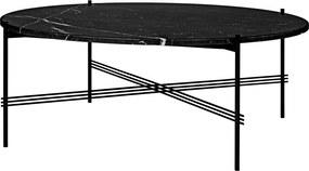 Gubi TS Table salontafel zwart onderstel zwart marmer 105