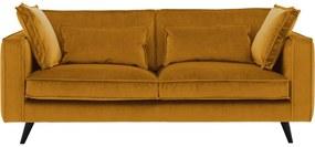 Goossens Bank Suite geel, stof, 3-zits, elegant chic