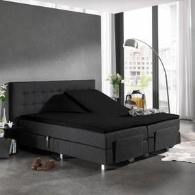 Home Care Splittopper Katoen - Home Care - Zwart 140 x 200 cm