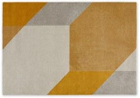 Timanti laagpolig vloerkleed, grote 160 x 230cm, geel