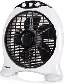 Ventilator vierkant VE-5997 50 W zwart en wit