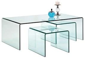 Kare Design Clear Club Glazen Salontafel Set 3-delig - 90 X 50cm.