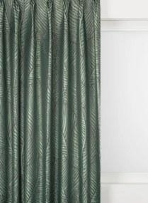 Gordijnstof Assen Blad Verduisterend (groen)