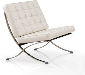 Barcelona Chair (replica) - Wit