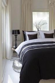 Beddinghouse | Dekbedovertrekset Katherine eenpersoons: breedte 140 cm x lengte 200/210/220 cm zwart dekbedovertrekken katoen | NADUVI outlet