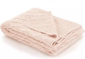 Plaid gebreid plaid ontwerp 130x171 cm katoen roze
