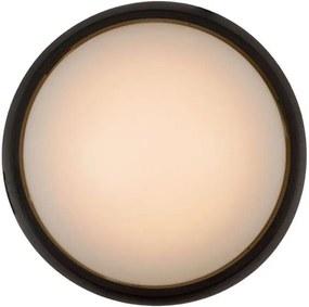 Lucide plafonniere Yazoo LED IP54 - zwart - 17x17x7,3 cm - Leen Bakker