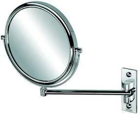 Mirror make-up spiegel met 1 arm en 3x vergrotend 20 cm, chroom