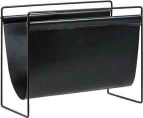 Tijdschriftenhouder - zwart - 30,5x39,5x18,5 cm - Leen Bakker