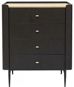 Kare Design Milano Zwarte Design Ladenkast - 80x55x100cm.